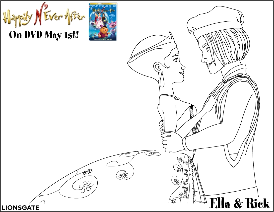 happily n u0027ever after free coloring pages for kids printable