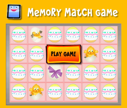 easter chicks memory match game for ipad and other tablets