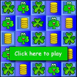 Free Kids Games Easy Shamrock Flip Game