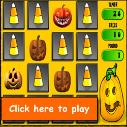 jacko matcho free online halloween game for kids - Halloween Kid Games Online