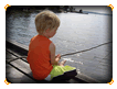 Boy Fishing Online Jigsaw Puzzle for Kids