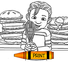 Coloring Page - Apple Pie Kid