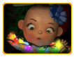 Baby Tangled in Lights Online Jigsaw Puzzle