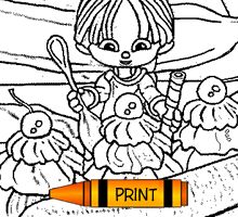 Coloring Page - Banana Split Kid