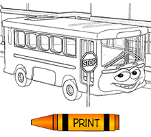 Getting Around Free Transportation Colouring Pages from