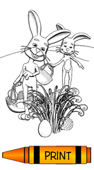 Easter Egg Hunt coloring page for kids