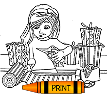 printable coloring page elves in a box printable coloring page