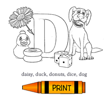D - Alphabet ABC's Coloring Page