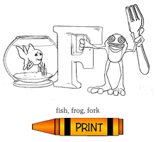 F - Alphabet ABC's Coloring Page