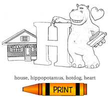 H - Alphabet ABC's Coloring Page
