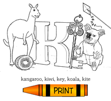 K - Alphabet ABC's Coloring Page