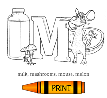 M - Alphabet ABC's Coloring Page