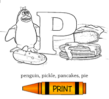 P - Alphabet ABC's Coloring Page