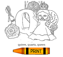 Q - Alphabet ABC's Coloring Page