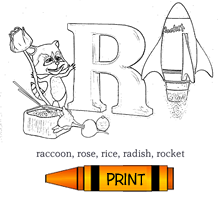 R - Alphabet ABC's Coloring Page