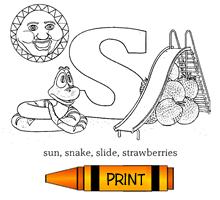 S - Alphabet ABC's Coloring Page