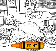 Turkey Snack Coloring Page