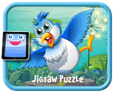 Blue Bird Online mobile and tablet-ready jigsaw puzzle for kids