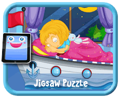 Boat Bed Online mobile and tablet-ready jigsaw puzzle for kids