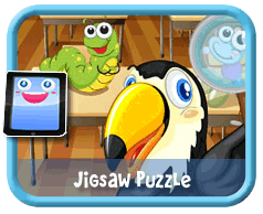 Bug School Online mobile and tablet-ready jigsaw puzzle for kids