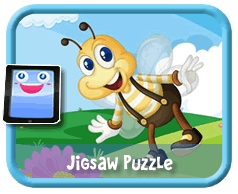 Bumble Bee Online mobile and tablet-ready jigsaw puzzle for kids
