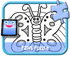 Butterfly - Online Paint Puzzle for Kids