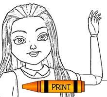 Dolly Girl Free Printable Coloring Page