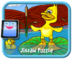 Ducks Online mobile and tablet-ready jigsaw puzzle for kids
