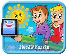 Flying Pencil Online mobile and tablet-ready jigsaw puzzle for kids