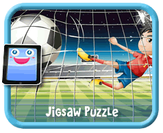 Football/Soccer Online mobile and tablet-ready jigsaw puzzle for kids