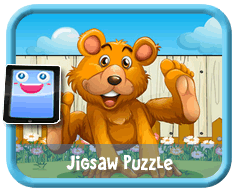 Fun Bear Online mobile and tablet-ready jigsaw puzzle for kids