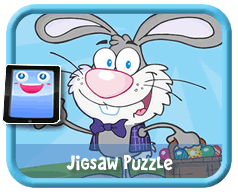 Online mobile and tablet-ready jigsaw puzzle for kids