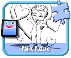 Bird and Worm - Online Paint Puzzle for Kids