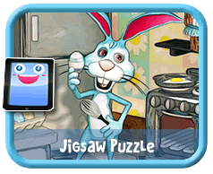 Online mobile and tablet-ready Easter jigsaw puzzle for kids