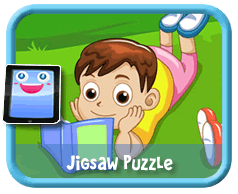 Reading Outdoors Online mobile and tablet-ready jigsaw puzzle for kids