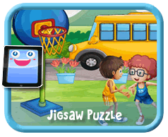 Kids on a Bus Online mobile and tablet-ready jigsaw puzzle for kids