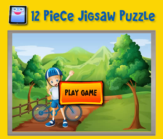 Kid with a Bike 12 Piece Jigsaw Puzzles for iPad and