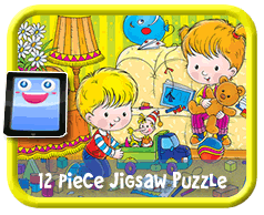 Kids Playing Online Jigsaw Puzzle For