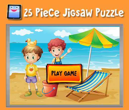Beach Kids 25 Piece Jigsaw Puzzles For Ipad And Other