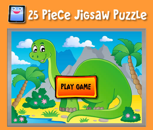 Cartoon Dinosaur - Jigsaw Puzzles for iPad and other Tablets