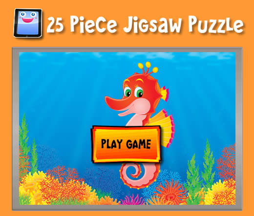 Cartoon Seahorse - Jigsaw Puzzles for iPad and other Tablets