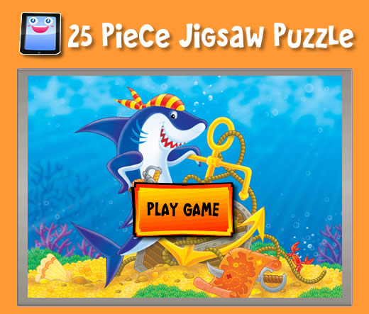 Cartoon Shark Jigsaw Puzzles For Ipad And Other Tablets
