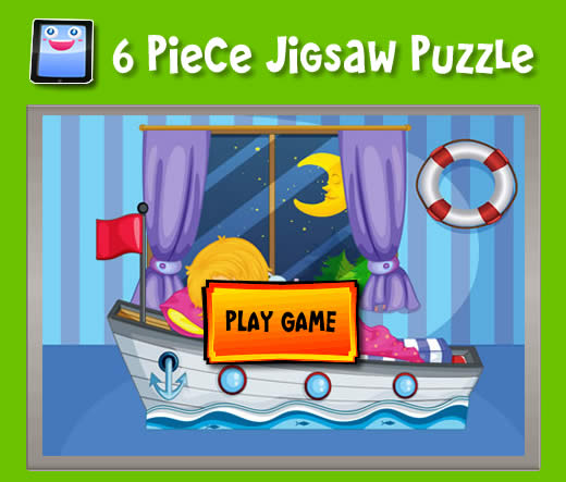 Boat Bed 6 Piece Jigsaw Puzzles For Ipad And Other Tablets