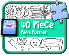 Free Kids Online Paint Puzzles for Computers, Tablets & Mobile Devices