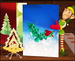 Elf with Greeting Cards Online Jigsaw Puzzle