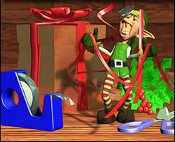Elf in Ribbons Online Jigsaw Puzzle