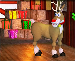 Reindeer in the Stable Online Jigsaw Puzzle