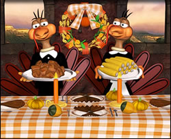 Turkies' Dinner Online Jigsaw Puzzle