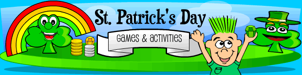 Free kids St. Patrick's Day Games and activities