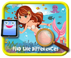 Mermaid Find the Differences Game